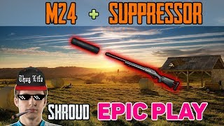M24 + SUPPRESSOR - Shroud and Chad win DUO FPP [NA] - PUBG HIGHLIGHTS TOP 1 #58