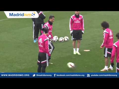 Real Madrid Training ahead of Atletico de Madrid in Copa return leg