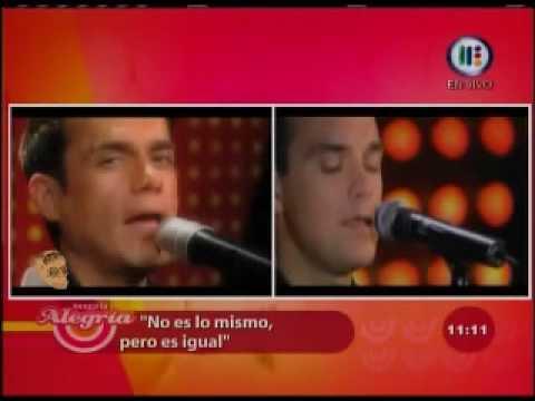 No es lo mismo pero es igual Enrique Duarte como Robbie Williams Feel