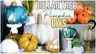 Fall Dollar Tree Pumpkins | Easy DIY Dollar Store Pumpkin Makeover | Sensational Finds