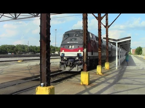 Amtrak 89 In Florence, SC WITH AMTK #42 LEADING!!! (And Foaming!) 7/1/14