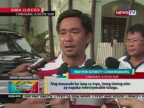 BP: Reelectionist Mayor Ediboy Cobangbang ng Cabugao, Ilocos Sur, sinampahan ng 2 counts of murder