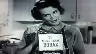 20 Mule Team Borax - Death Valley Days Classic TV Commercial