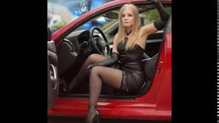 Hot Women with Black Stockings or Pantyhose in Cars