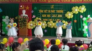 Mầm non Hoa Mai,các bé múa tổng kết năm học 2018