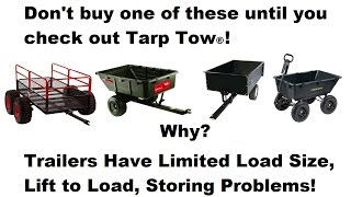 Watch and don't buy a garden trailer or cart, utility trailer or cart, yard cart or wagon ever again