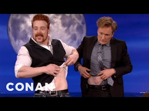 WWE Champ Sheamus Body Slams Conan