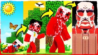Minecraft - If a Colossal TITAN had a REALISTIC Life Span