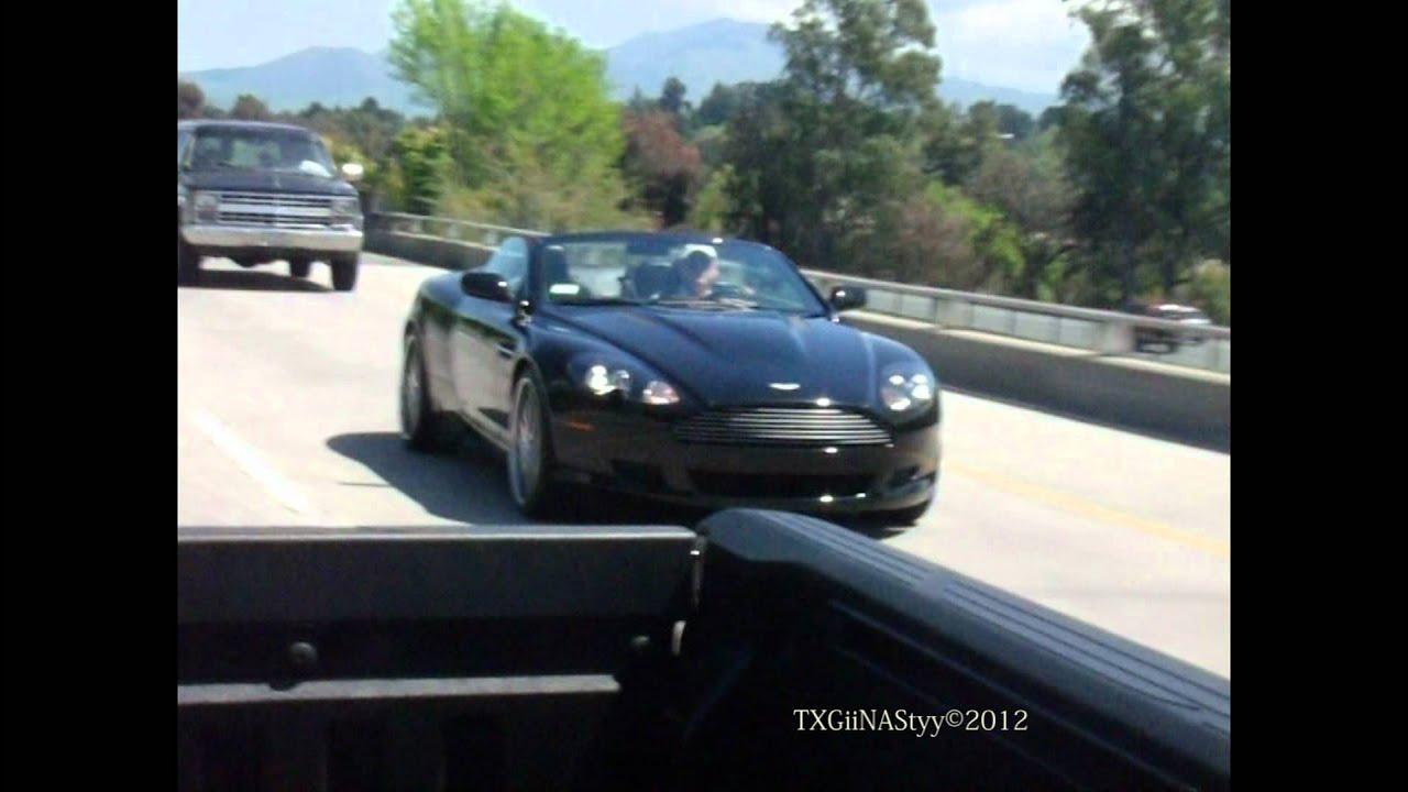 Hd Aston Martin Db9 Volante On Freeway 1080p Youtube