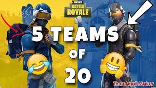FINAL FIGHT!|LTM TEAMS OF 20| FORTNITE BATTLE ROYALE |Victory Royale or NAH?