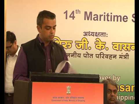 Milind Deora's Speech during 14th meeting of the Maritime States Development Council (MSDC)