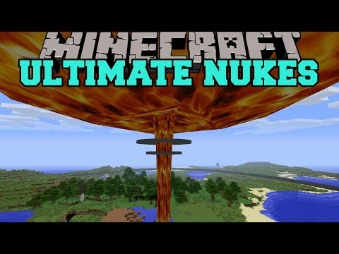 Minecraft: ULTIMATE NUKES (NUKE AND TZAR BOMBA HUGE EXPLOSIONS!) Mod Showcase
