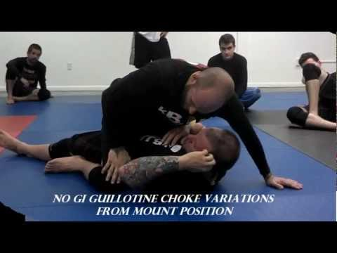 KCBJJ -No Gi Guillotine Choke Variations from Mount Position
