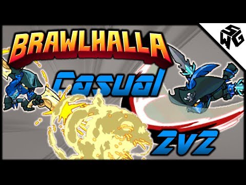 Casual 2v2's w/ Double Lucien! - Brawlhalla Gameplay :: The Destroyers of Casual 2v2's!