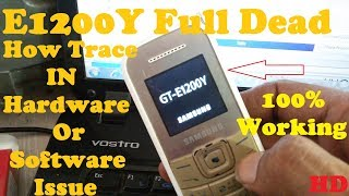 How To Repair Samsung E1200Y Dead Problem Fix In Software 100% Tested Solution