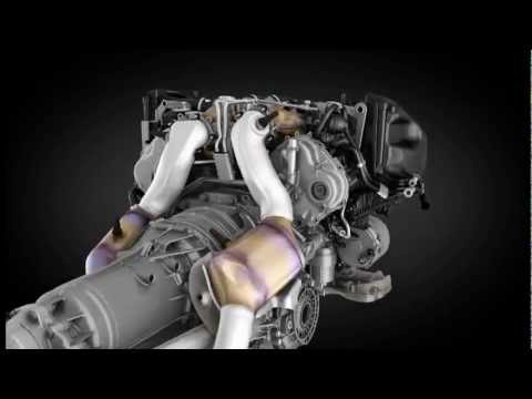 Bentley Continental V8, работа двигателя (анимация)