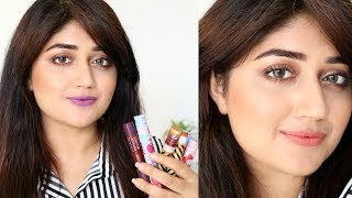 Lakmé x Masaba Lip Pout Swatches