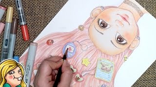 COPIC MARKER ILLUSTRATION - Bubbly