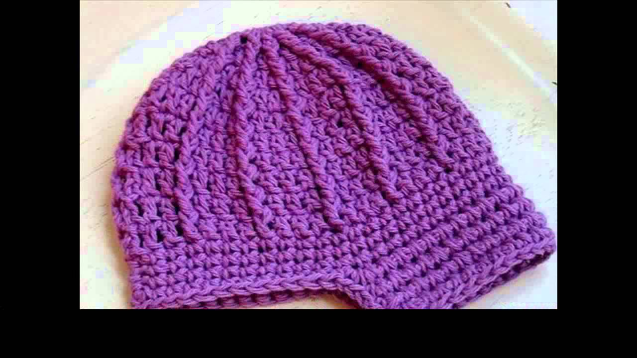 Crochet Patterns Youtube Hats : crochet baby hat patterns free - YouTube