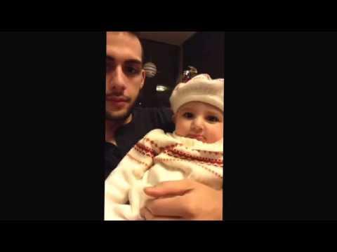 Реакция малышки на битбокс в исполнении ее отца