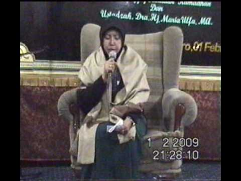 Ustadzah:maria Ulfa One Of The Famous Qa'ria-indonesia video