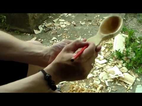 Деревянная ложка своими руками – пошагово + фото + видео