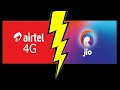 Airtel vs Jio speed test(Real 4g speed)By Ookla speed test