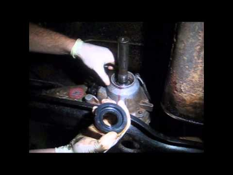 How-To: replace a rear transfer case output shaft seal on a jeep NP231 or NP242