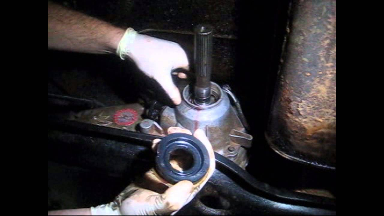 How To Replace A Rear Transfer Case Output Shaft Seal On