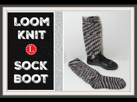 Loom Knit Sock Boots on a Round Knitting Loom