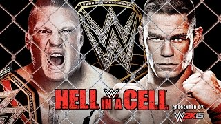 WWE Hell in a Cell 2014 - Brock Lesnar vs John Cena Hell in a Cell 2014 Match HD!