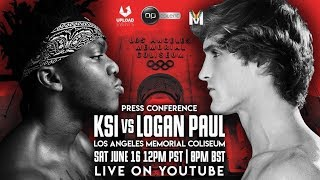 FIGHT ON STAGE!! KSI vs. LOGAN PAUL PRESS CONFERENCE! **Reaction**