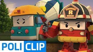 I'll break the concrete with a drill! | Robocar Poli Rescue Clips