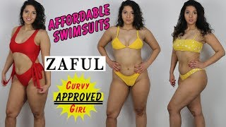 Affordable Curvy Girl Swimsuits | ZAFUL Swimsuit Try-on Haul & Review | pt. 1