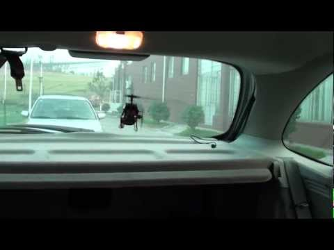 Flying a 3D helicopter inside my car
