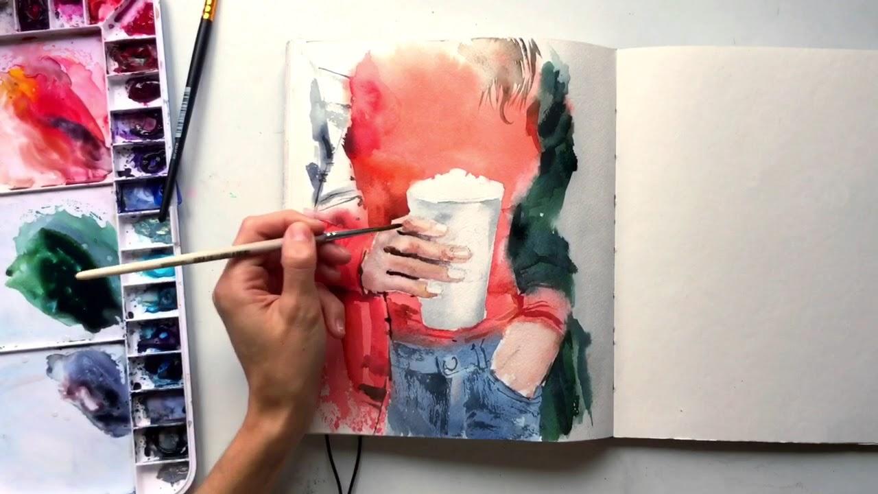 По фломастерам рисовать акварелью