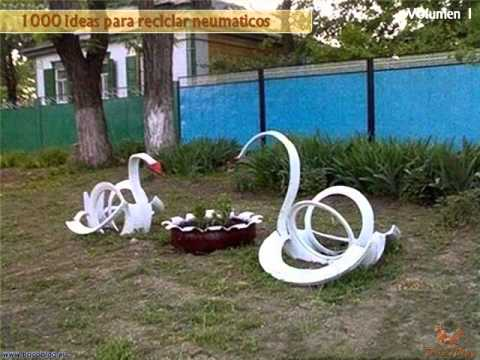1000 ideas creativas para reciclar neum ticos i youtube for Canteros de jardin