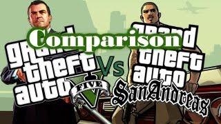GTA 5 vs GTA San Andreas: Comparison