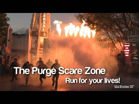 [HD] The Purge Scare Zone - Halloween Horror Nights