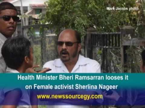 Health Minister Bheri Ramsarran says he would slap and get women to strip  female activist