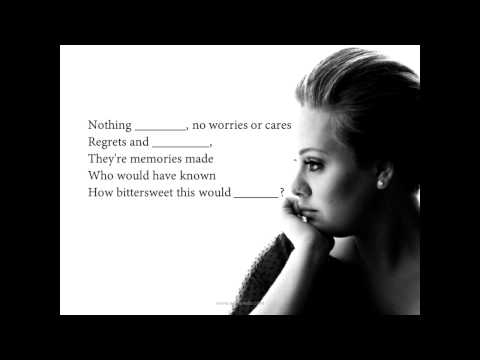 Adele  Someone like you  English with songs  ESL
