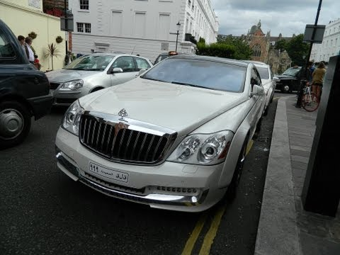 Two Arab Maybach 57s at Harrods + Very Close Parking!