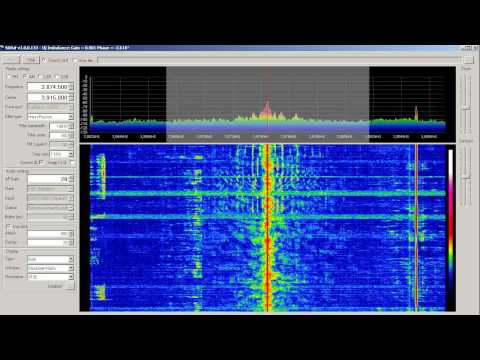 Shortwave Radio - Ham Band Music 3874.5 1/22/2012