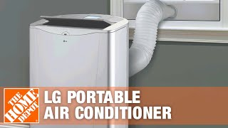 LG 14,000 BTU Portable Air Conditioner with Heat & Dehumidifier - The Home Depot
