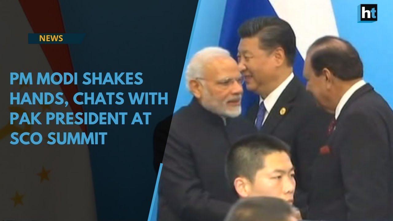 Watch: PM Modi shakes hands, chats with Pak President at SCO summit