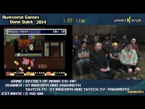 [AGDQ2014 - French restream] Secret of Mana co-op (StingerPA & Yagamoth) thumbnail