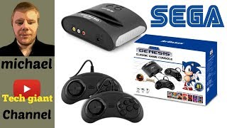 Sega Genesis Classic Game Console with 81 Classic Games Built-in