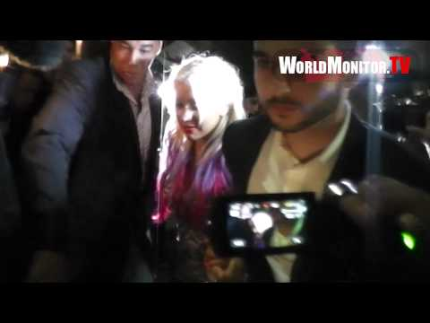 NBC The Voice 'Christina Aguilera' smoking hot and boyfriend Matt Rutler dine at Spago