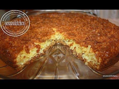 Recette de gateau aux noix de coco coconut flake tart - Youtube cuisine marocaine facile ...