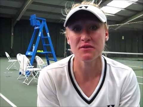 Elena Baltacha interviewed after she moved into the 2013 Aegon Nottingham Challenge final